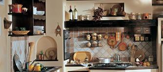 Stile antico realizza cucine su misura in muratura con materiali di ...