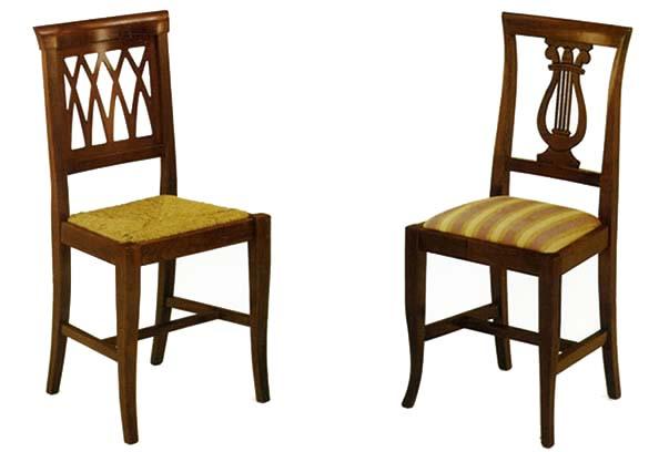 Stile antico progettazione e realizzazione di mobili su for Sedie per soggiorno legno